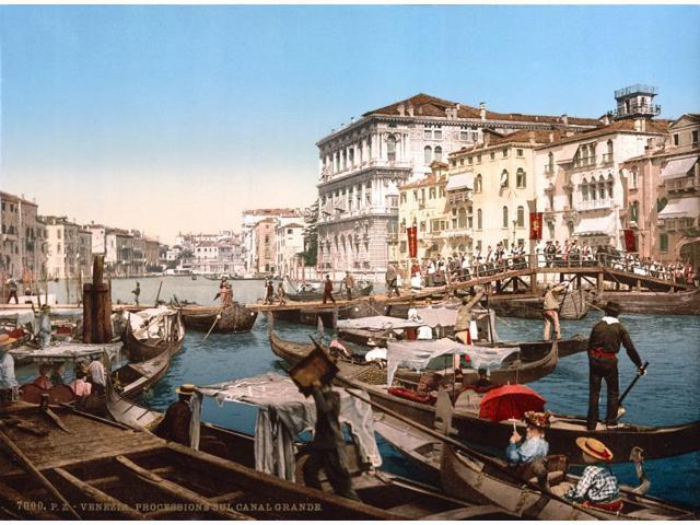 Grand Canal of Venice 1890s Poster Print by Science Source (24 x 18)
