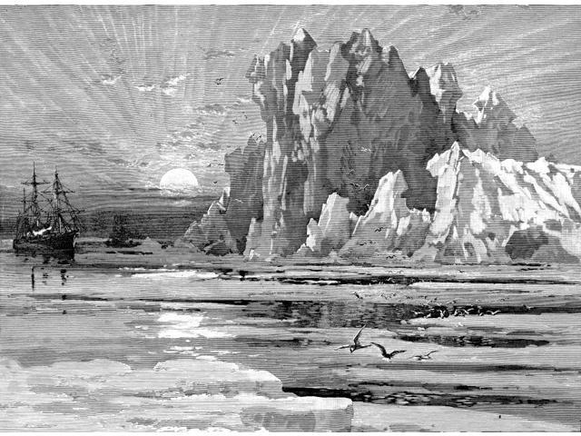 Iceberg Nwood Engraving Late 19Th Century Poster Print by  (18 x 24)