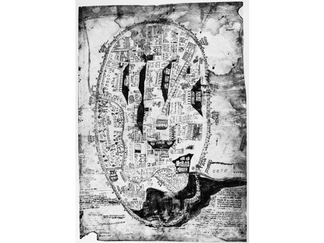 Italy Rome C1325 Nplan Of Rome With East At The Top Illumination C1325 Poster Print by  (18 x 24)