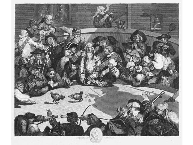 Hogarth Cockpit 1759 Nengraving After The Etching And Engraving 1759 By William Hogarth Poster Print by  (18 x 24)