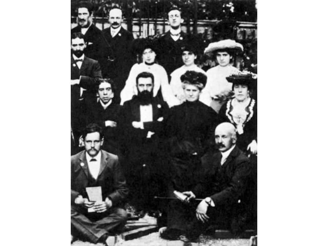 Theodor Herzl (1860-1904) Naustrian Journalist And Founder Of Zionism Herzl Center Between His Mother And Israel Zangwill At The Sixth Zionist Congress At Basel August 1903 Poster Print by  (18 x 24)