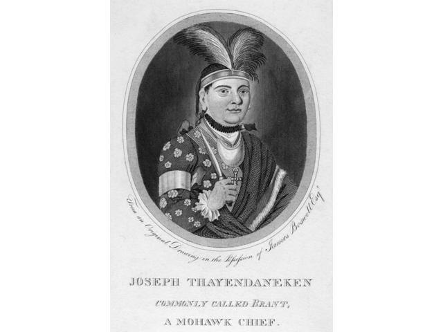 Joseph Brant (1742-1807) Nnative American Name Thayendanegea Mohawk Native American Chief Line And Stipple Engraving 1848 After A Contemporary Drawing Poster Print by  (18 x 24)