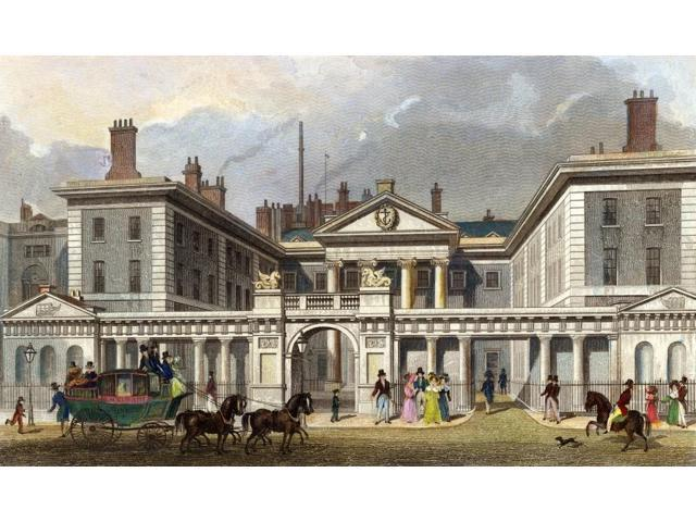 London Admiralty C1840 NThe Admiralty Parliament Street London Line Engraving C1840 Poster Print by  (18 x 24)