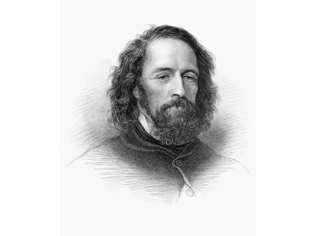 Alfred Tennyson (1809-1892) N1St Baron Tennyson English Poet Stipple Engraving 19Th Century Poster Print by  (18 x 24)