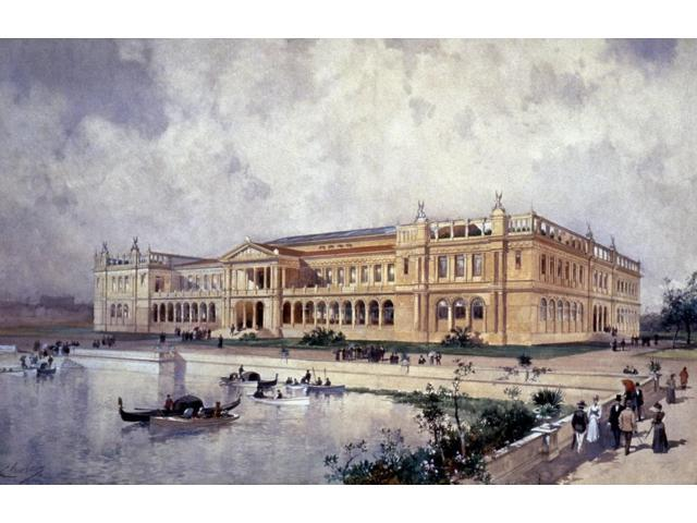 Columbian Exposition 1893 NwomenS Building WorldS Columbian Exposition Chicago 1893 Watercolor 1893 By Charles Graham Poster Print by  (18 x 24)