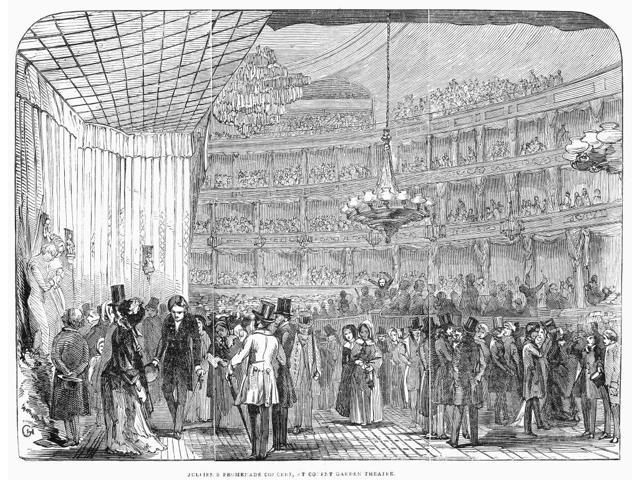 London Covent Garden Ncrowds Attending A Promenade Concert Conducted By Louis Antoine Jullien At The Covent Garden Theater London England Wood Engraving English 1845 Poster Print by  (18 x 24)