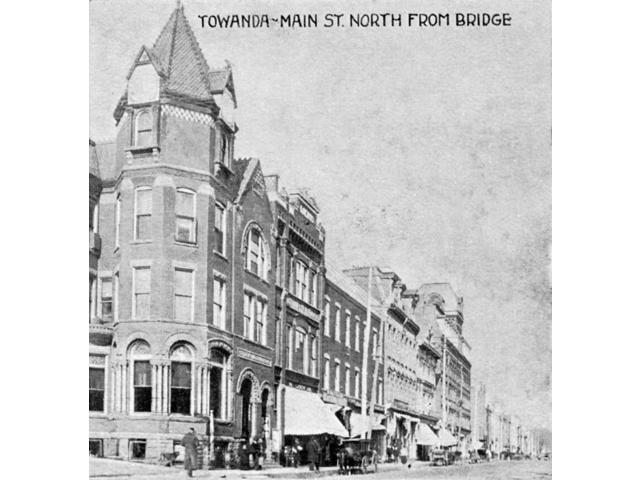 Pennsylvania Towanda Nmain Street In Towanda Pennsylvania Postcard 1906 Poster Print by  (18 x 24)
