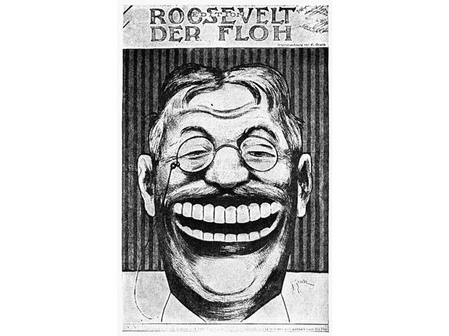 Roosevelt Cartoon 1910 NI Have Been To Rome And Not Seen The Pope Cartoon Of American President Theodore Roosevelt 1910 From Der Floh Vienna Austria Poster Print by  (18 x 24)