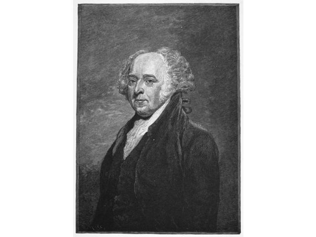John Adams (1735-1826) Nsecond President Of The United States Wood Engraving 19Th Century Poster Print by  (18 x 24)
