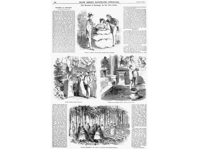 Saratoga Springs 1859 Nscenes Of The Life Of Visitors During The Season At Saratoga Springs New York Wood Engravings From An American Newspaper Of 1859 Poster Print by  (18 x 24)