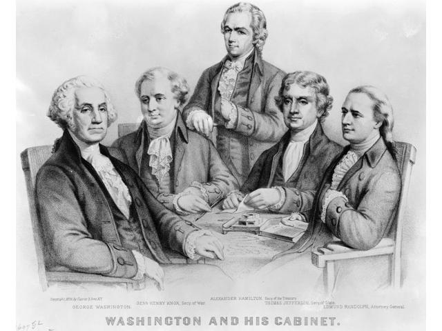 George Washington and Cabinet Poster Print by Science Source (24 x 18)