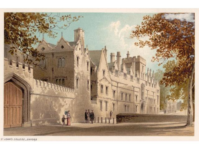 Oxford St JohnS College Nlithograph C1885 Poster Print by  (18 x 24)