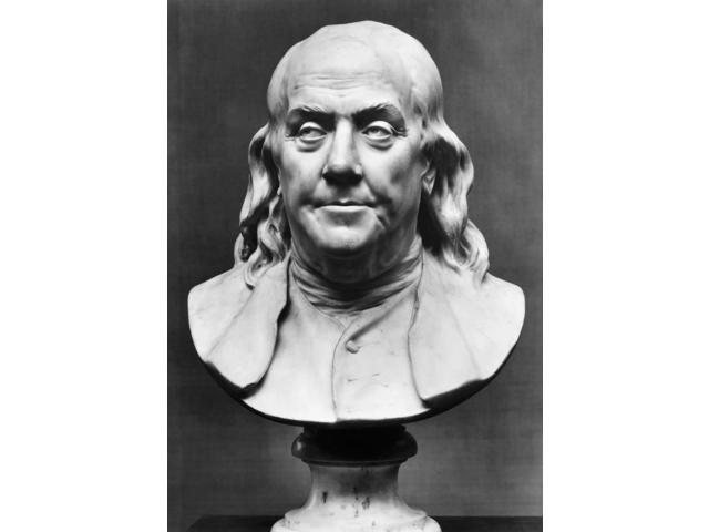 Benjamin Franklin (1706-1790) Namerican Printer Publisher Scientist Inventor Statesman And Diplomat Marble Bust 1778 By Jean-Antoine Houdon Poster Print by  (18 x 24)