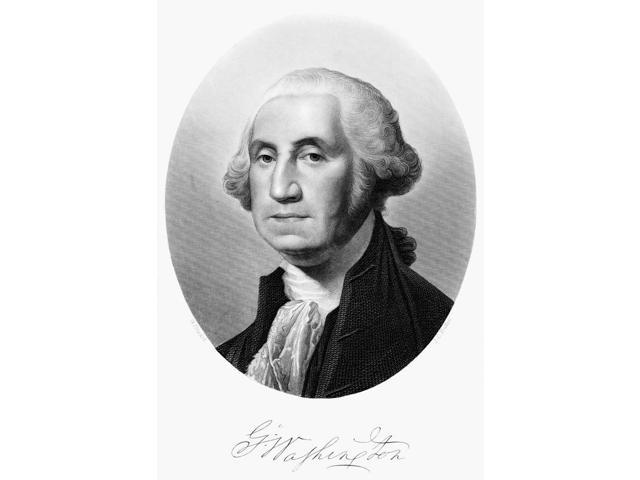 George Washington N(1732-1799) First President Of The United States Engraving After Gilbert Stuart C1795 Poster Print by  (18 x 24)