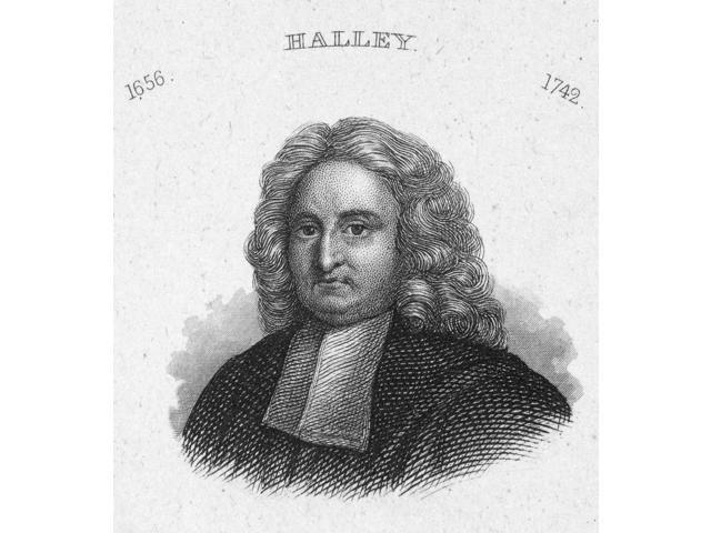 Edmund Halley (1656-1742)Nenglish Astronomer Line Engraving 19Th Century Poster Print by  (18 x 24)