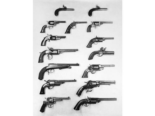 Pistols And Revolvers Na Selection Of Handguns Poster Print by  (18 x 24)