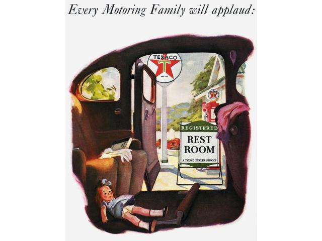 Texaco Advertisement 1938 Namerican Advertisement For Texaco Gas Stations 1938 Poster Print by  (18 x 24)