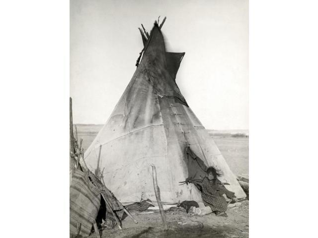 Sioux Tipi 1891 Na Young Oglala Sioux Girl Sitting In Front Of A Tipi With A Puppy Beside Her Probably On Or Near The Pine Ridge Reservation In South Dakota Photographed In 1891 By John CH Grabill Pos