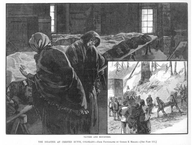 Coal Mine Disaster 1884 Nvictims And Mourners Following The Explosion At The Colorado Coal And Iron Company Mine At Crested Butte Colorado 24 January 1884 Wood Engraving From A Contemporary American N