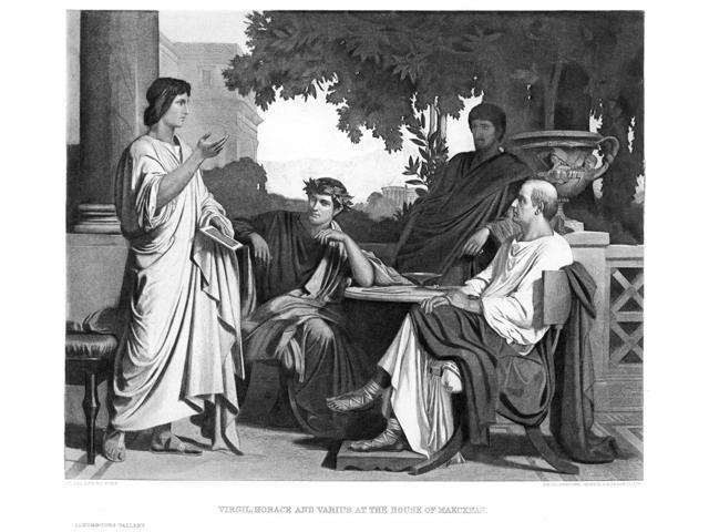 Virgil (70-19 BC) Nroman Poet Virgil Horace And Varius (Left To Right) At The House Of Their Patron Maecenas (Right) Photogravure Late 19Th Century After A Painting By Charles Fran?Ois Jalabert Poster