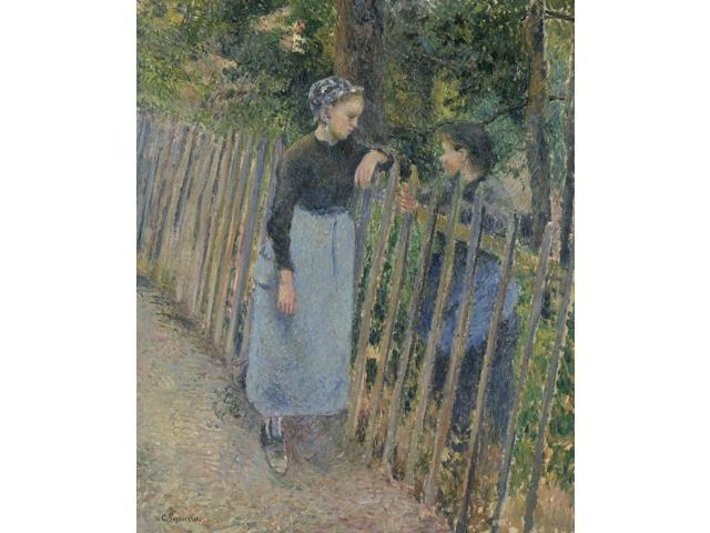 Pissarro Conversation Noil On Canvas Camille Pissarro C1881 Poster Print by  (18 x 24)