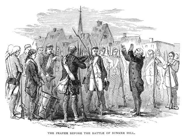 Bunker Hill 1775 Nthe Prayer Before The Battle Of Bunker Hill Wood Engraving 19Th Century Poster Print by  (18 x 24)
