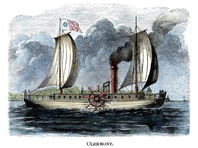 Robert FultonS Clermont Nrobert FultonS Steamboat Clermont Built In 1807 Color Engraving 19Th Century Poster Print by  (18 x 24)