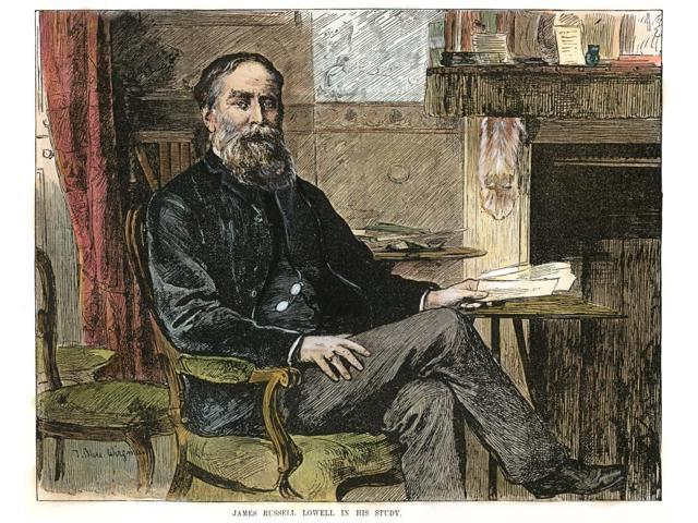 James Russell Lowell N(1819-1891) American Poet Essayist And Diplomat Wood Engraving 1887 Poster Print by  (18 x 24)