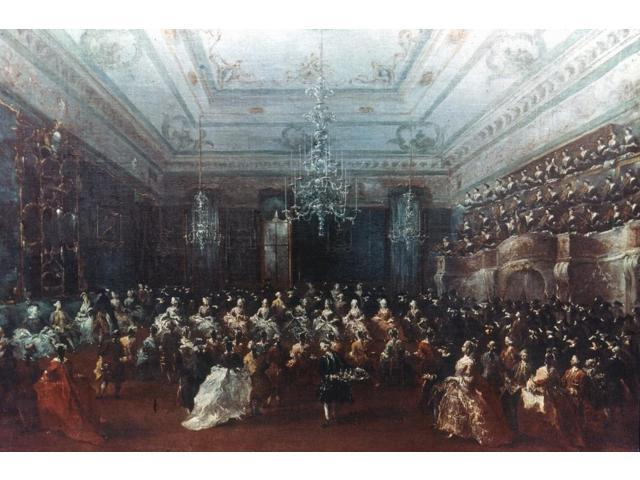 Guardi Concert In Venice Noil On Canvas Mid-18Th Century By Francesco Guardi Poster Print by  (18 x 24)