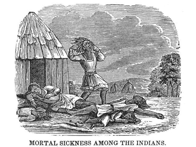 Native Americans Smallpox 1853 Nnative American Victims Of A Smallpox Epidemic Spread By White Settlers In America Wood Engraving American 1853 Poster Print by  (18 x 24)