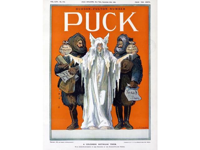 Cook And Peary 1909 NA Coldness Between Them Cover Of The 29 September 1909 Issue Of Puck Illustrating The Dispute Between Explorers Frederick A Cook And Robert Peary Over Who Reached The North Pole F
