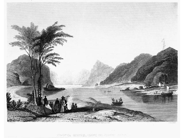 Africa Cape Of Good Hope Nthe Union Of The Kowee River And The Cape Of Good Hope South Africa Steel Engraving British 19Th Century Poster Print by  (18 x 24)