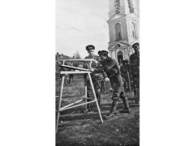 White Army 1919 Nrifle Training For New Members Of The Russian National (White) Army Near The Archangel Front During The Russian Civil War 1919 Poster Print by  (18 x 24)