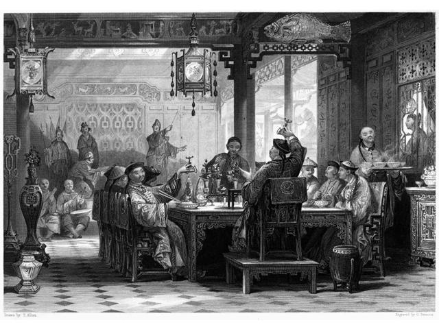 China MandarinS Home Ndinner Party At A MandarinS Home In China Steel Engraving English 1843 After A Drawing By Thomas Allom Poster Print by  (18 x 24)