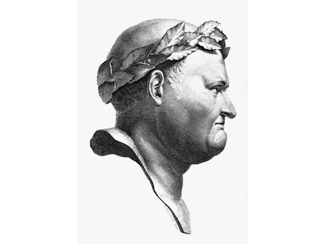 Vespasian (9-79 AD) Nemperor Of Rome 69-79 AD Line Engraving Poster Print by  (18 x 24)