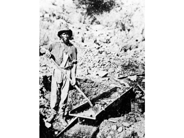 California Gold Rush 1852 Na Black Miner Prospecting In Auburn Ravine During The California Gold Rush 1852 Poster Print by  (18 x 24)