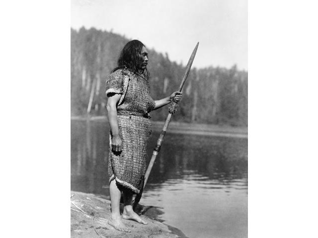 Curtis Nootka Man C1910 Na Nuu-Chah-Nulth (Formerly Nootka) Man With Harpoon Near Vancouver Canada Photographed By Edward Curtis C1910 Poster Print by  (18 x 24)