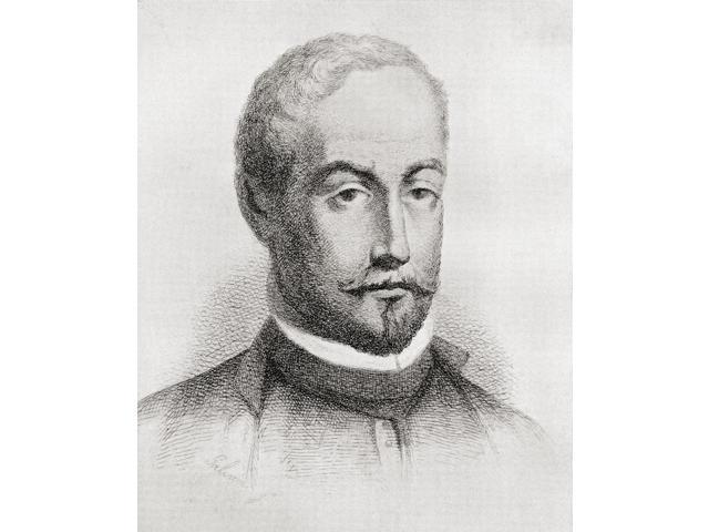 Francisco De Rioja 1583 To 1659 Spanish Poet And Scholar Of The Baroque Period From The Book El Conde-Duque De Olivares La Pasion De Mandar By G Maraon Published 1936 Poster Print (13 x 16)