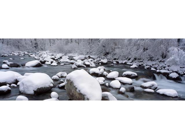Little Susitna River Southcentral Ak Winter Scenic Poster Print (24 x 8)