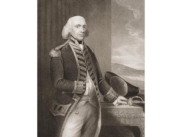 Richard Howe1St Earl Howe1726-1799 British Admiral Engraved By H Robinson From The Original Of Gainsborough From Englands Battles By Sea And Land By Lieut Col Williams The London Printing And Publishi
