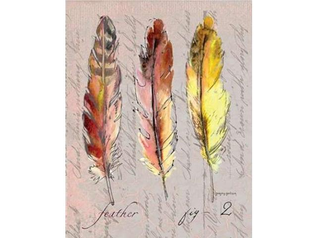 Three Feathers II Poster Print by Gregory Gorham (22 x 28)