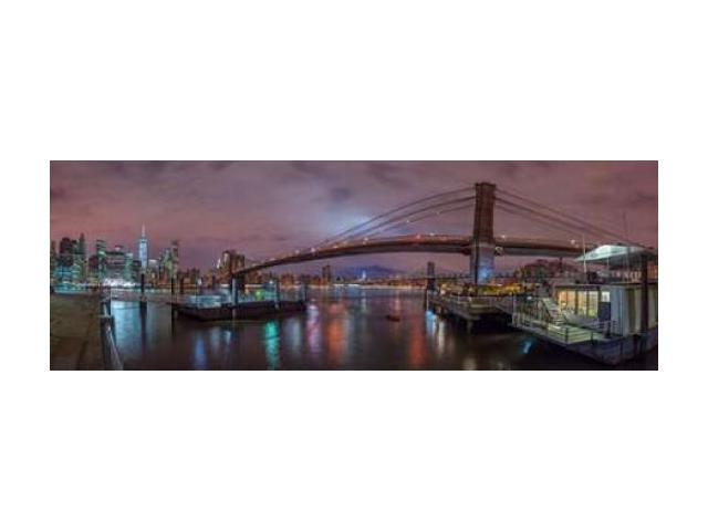 Brooklyn bridge over East river New York Poster Print by Assaf Frank (24 x 48)