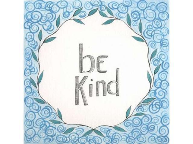 Be Kind Swirls Poster Print by Cindy Shamp (24 x 24)