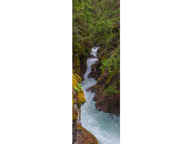 Elevated view of a creek McDonald Creek US Glacier National Park Montana USA Poster Print (6 x 18)