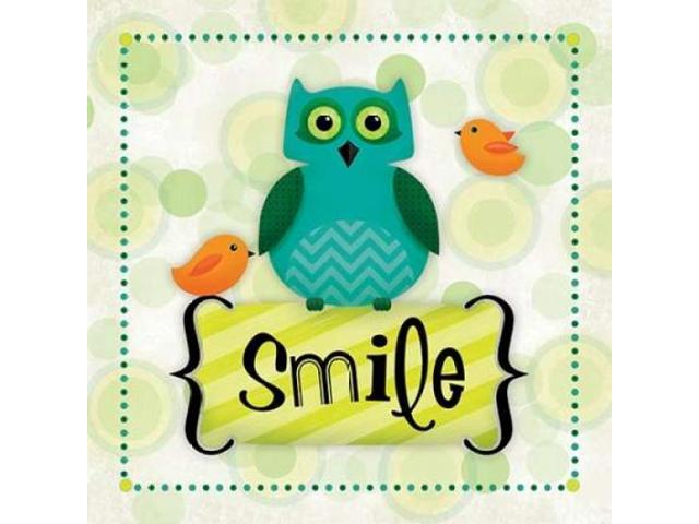 Owl Smile Poster Print by R2 Squared (24 x 24)