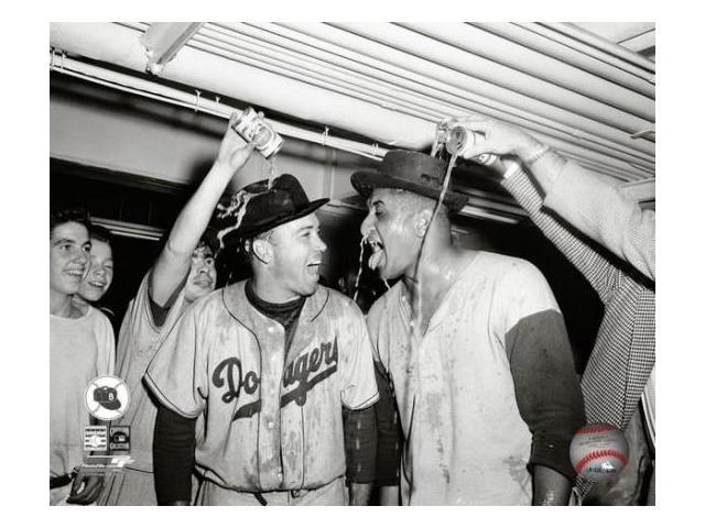 Duke Snider & Don Newcombe 1955 World Series Celebration Photo Print (8 x 10)