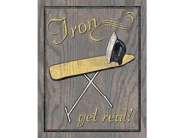 Iron - Gray Poster Print by N Harbick (22 x 28)