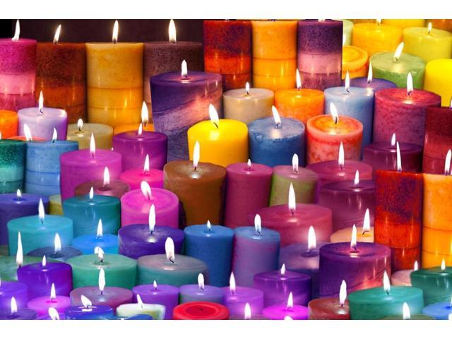 Candles Rainbow Colors Poster Print by Alixandra Mullins (18 x 12)
