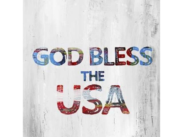 God Bless USA Poster Print by Pamela J Wingard (24 x 24)