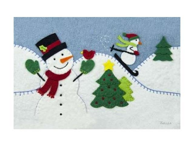 Holiday Snowman Poster Print by Betz White (24 x 36)